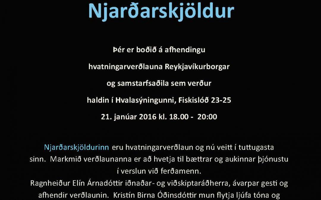 Njarðarskjöldur – afhending hvatningarverðlauna Reykjavíkurborgar og samstarfsaðila