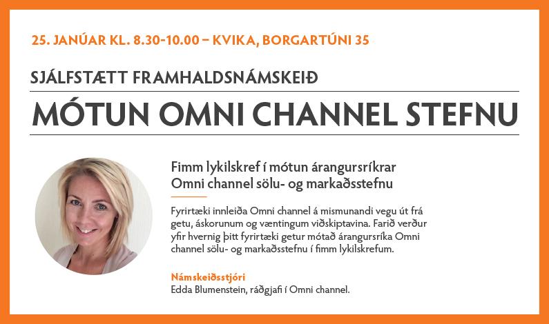 Sjálfstætt framhaldsnámskeið 25. janúar – Mótun Omni channel stefnu