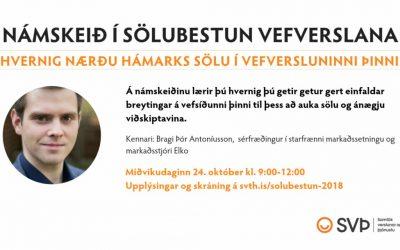Námskeið: Sölubestun vefverslana, 24. október kl. 9:00-12:00