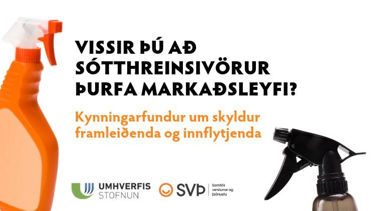 Sæfivörur: Kynningarfundur um skyldur framleiðenda og innflytjenda