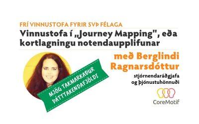 """Frí vinnustofa fyrir SVÞ félaga í """"Journey Mapping"""" – kortlagningu notendaupplifunar"""