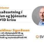 Veffyrirlestur markaðssetning í covid krísu Valdimar Sigurðsson