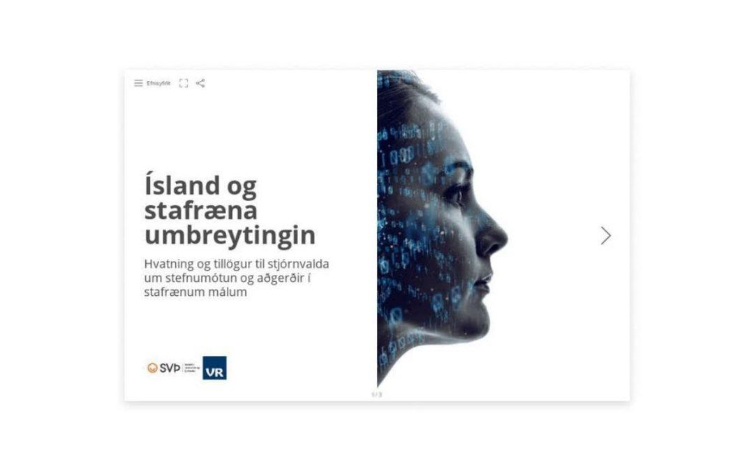 SVÞ og VR hvetja stjórnvöld til stefnumótunar og aðgerða í stafrænum málum
