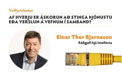 Veffyrirlestur: Af hverju er áskorun að stinga þjónustu eða verslun á vefnum í samband?